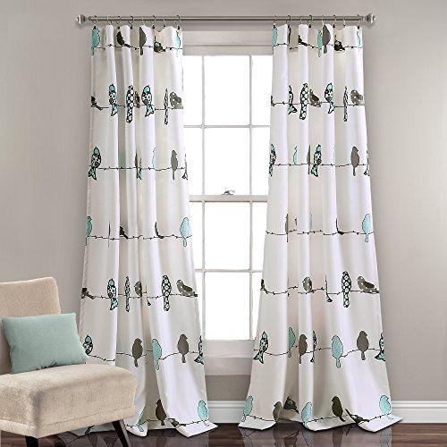 Lush Decor Rowley Birds Room Darkening Window Curtain Pair, Panel 84