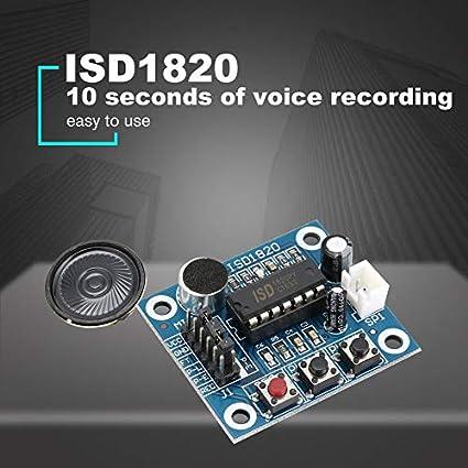 Amazon com: ISD1820 10s Mic Voice Sound Playback Board