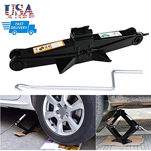 DICN Scissor Jack with Crank Handle Car Tire Repair Kit Emergency for Toyota Camry Corolla Prius Vios - 2 Ton/ 4.2-15 Inch