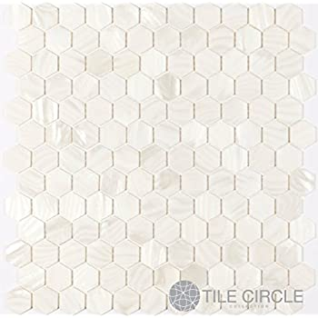 Genuine Mother Of Pearl Shell Tile White 1 Quot Hexagons On A