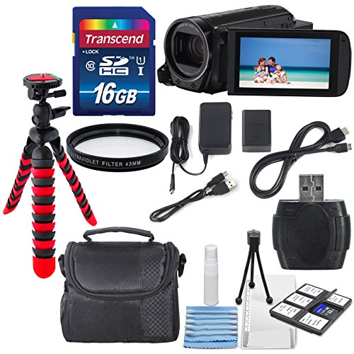 Canon 16GB VIXIA HF R70 Full HD Camcorder Along with UV Filter, 16GB and Deluxe Accessory Bundle with Cleaning Tools by Canon
