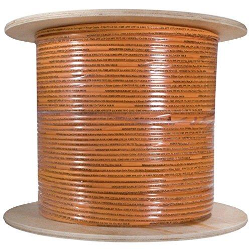 MONSTER CABLE CP CAT5E-ORG EZ1000 CAT-5E Cable, 1,000ft (Orange) consumer electronics