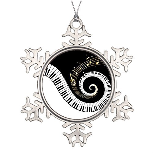 Valerie Christmas Decoration Piano Keys and Gold Music Notes Small Artificial Christmas Trees