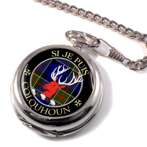Colquhoun Scottish Clan Crest Full Hunter Pocket Watch, Watch Central