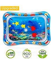 Water Play Mat, 7 Upgrade [2019 New] Inflatable Infant Baby Toys & Toddlers Fun Activity Play Center for Boy & Girl Growth Brain Development BPA-Free Baby Toys for 3-12 Months (26''x20'')