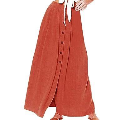 Poachers Faldas Mujer largas Falda Flamenca Mujer Volantes ...