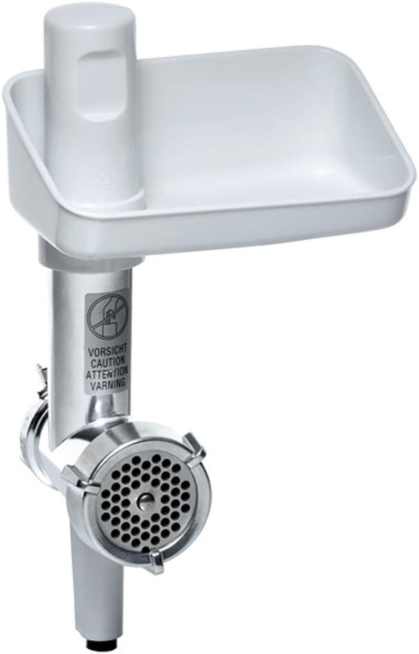 Bosch MUZ5FW1 - Picadora de carne eléctrica, accesorio para Robot de Cocina MUM5, plástico y acero inoxidable