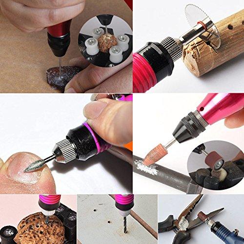 Rokoo 15 Pcs ensemble DIY /Électrique Gravure Graveur Stylo Carve Outil pour Bijoux En M/étal En Verre UE Plug