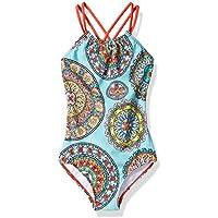 Kanu Surf Girls' Jasmine Halter Beach Sport 1-Piece Swimsuit