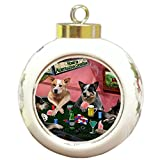 Home of Australian Cattle Dog Christmas Holiday Ornament 4 Dogs Playing Poker