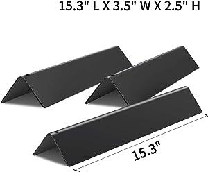 X Home 15.3 inch Sturdy Flavorizer Bars for Weber Spirit 200 Series(2013-2017), Porcelain Enameled, 7635