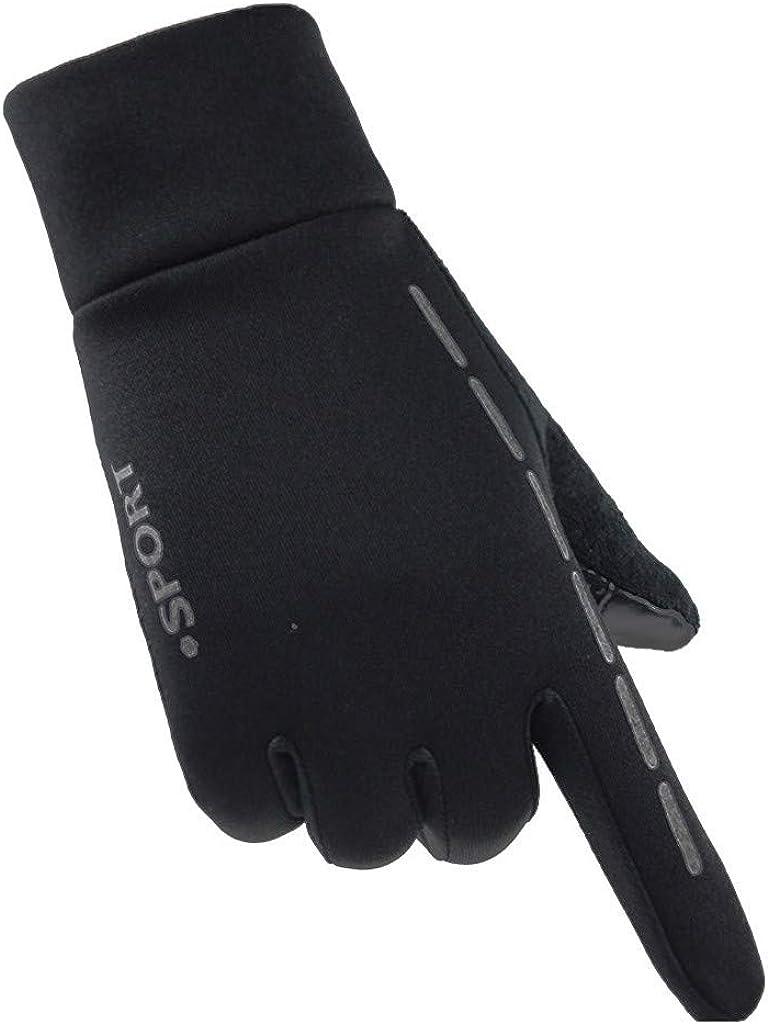 Smartphone Gants /à /écran tactile pour hommes Femmes utilisant un t/él/éphone Windproof Finger Gants de v/élo de conduite