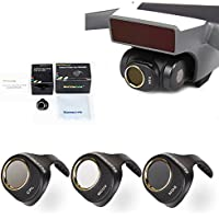 Drone Fans 3 Pack Camera Lens Filter MCUV CPL ND8 Filters Kit ND Dimmer for DJI SPARK Won't Affect Gimbal Calibration