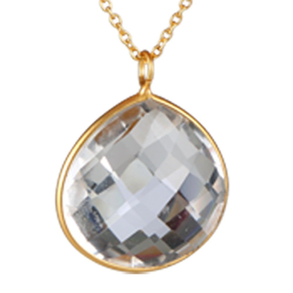 Nathis Simple Necklace with White Topaz