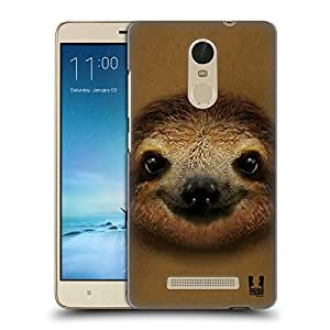 Head Case Designs Smiling Baby Sloth Animal Faces 2 Hard Back Case for Xiaomi Redmi Note 3