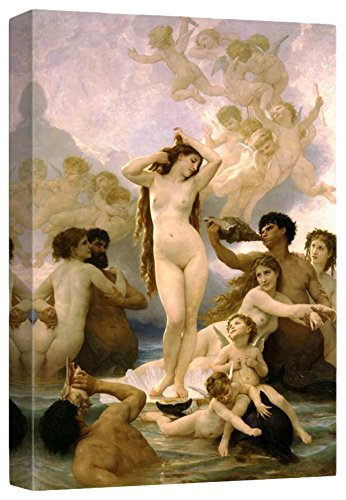 The Birth of Venus by William Adolphe Bouguereau Stretched Framed 12 L X 18 W