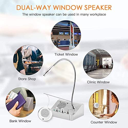 Interferentie Dual Way Talk, Aunty Voice Instant Window Intercom System Counter Intercom, Voor Store Office Hospital Bank Ticket Station
