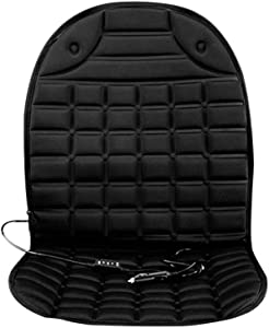 Maserfaliw Car Heated Seat12V Universal Heated Auto Car Front Seat Cover Winter Warm Heating Cushion Pad - Black£¬Essential for Home Life.
