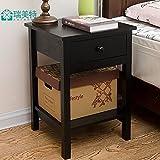 Freestanding Book Shelf / Desk Top Organization, Minimalist nightstands bedroom bedside cabinets,lockers Drawer Cabinet,574038cm, black