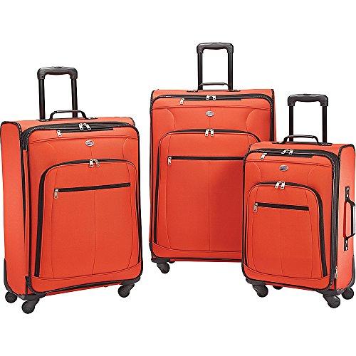 American Tourister At Pops Plus 3 Piece Nested Set, Orange (American Piece Tourister 3)