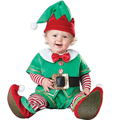 Hug Me Toddler Baby Infant Green Elf Christmas Dress up Costume Outfit (90CM (10-12 Months))