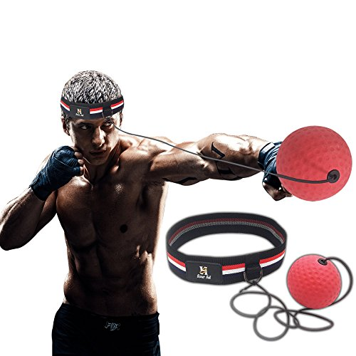 Boxing Reflex Fight Ball – Improve Speed With Reaction Training – Get In Shape While Having Fun Punching – Lightweight And Portable – Premium Fitness Headband – Stript Health Exercise Equipment – DiZiSports Store