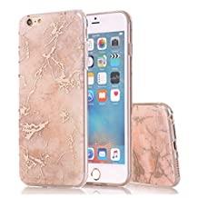 iPhone 6S plus Case,iPhone 6 Plus Case,Spevert Marble Pattern Hybrid Hard Back Soft TPU Raised Edge Ultra-Thin Shock Absorption Scratch Proof Protective Case for iPhone 6 Plus/6S Plus 5.5 inches - Rose Gold