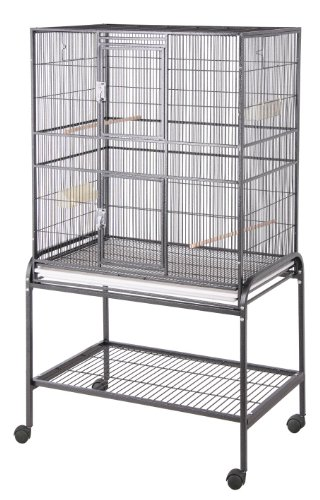BirdsComfort HQ Flight Bird Cage 32x21 - Brass