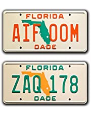 Miami Vice | ZAQ 178 + AIF 00M | Metal Stamped License Plates