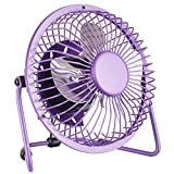 "Ambielly USB Mini Desk Cooler Fan Velocity Personal Fan Electric desktop fans (6.1"", Purple)"