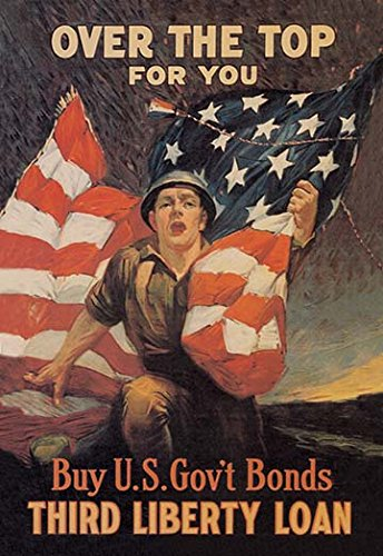 Over the Top for You - Third Liberty Loan Fine Art Canvas Print (Wwi Liberty Bonds)