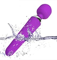 Wand Massager, PALOQUETH 10x Extreme Power Multi-Speed Cordless USB Rechargeable Waterproof Handheld Body Vibrator