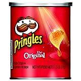 PringlesPotato Crisps Chips, Original Flavored, Single Serve, Grab and Go,1.3 oz Can(Pack of 12)