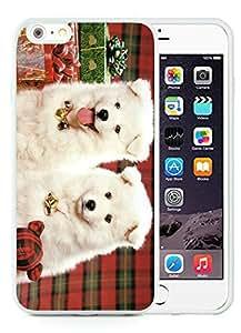 Personalization iPhone 6 Plus Case,Christmas Doggies White iPhone 6 Plus 5.5 TPU Case 1