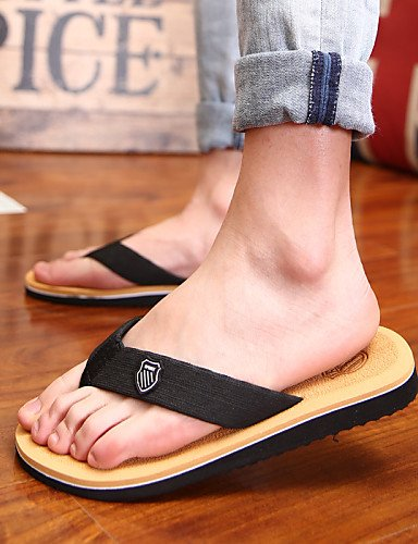 NTX/ Men's Shoes Outdoor / Casual Fabric Flip-Flops Black / Brown / Gray brown-us8.5-9 / eu41 / uk7.5-8 / cn42 pzjZq8oF