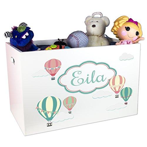 Amazon Com Mybambino Child S Toy Box Personalized Hot Air