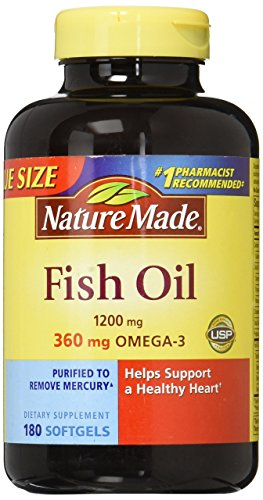 Nature Made Fish Oil, 1200 mg, Liquid Softgels, Value Size, 180 ct.