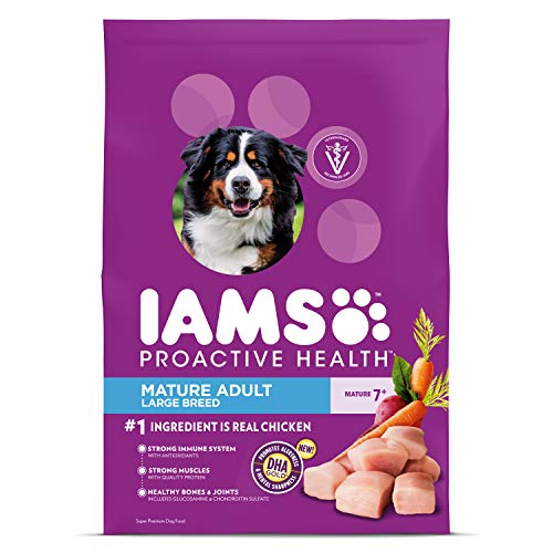 IAMS PROACTIVE HEALTH Mature Adult Large Breed Dry Dog Food for Senior Dogs with Real Chicken, 30 lb. Bag