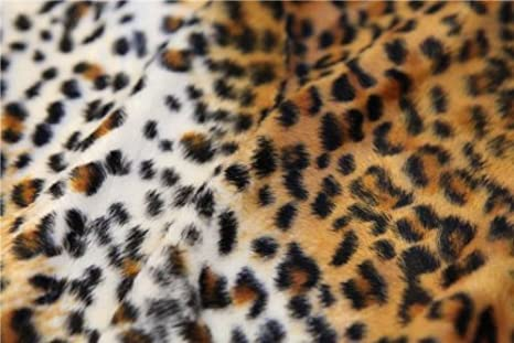 a5ae2a99d5 Amazon.com  SNOW LEOPARD ANIMAL PRINT POLYESTER VELBOA VALBOA FAUX ...