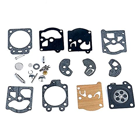 PODOY K10-WAT Carburetor Rebuild Kit with Gasket Diaphragm for Walbro WA WT Series Carby - Series Gasket