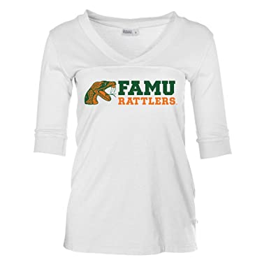 f5ebb71d4 Amazon.com  Official NCAA FAMU Rattlers - Women s 3 4 Sleeve Football Jersey   Clothing