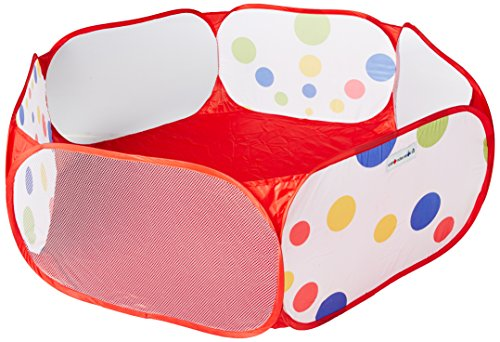 Kids Twist - Hexagon Polka Dot Children Twist Playpen w/ Safety Meshing for Child Play Visibility & Carry Tote - Hexagon Pen