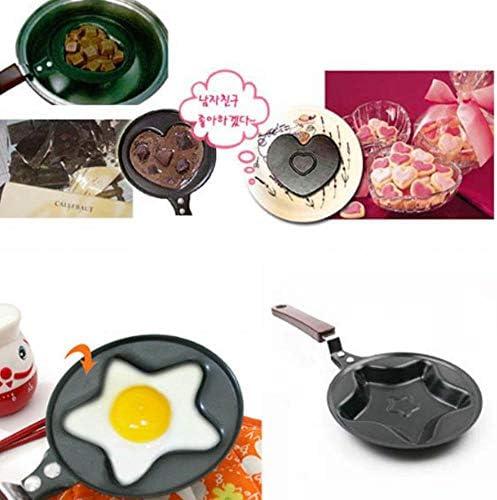 Mstr Moule à œuf anti-adhésif en acier inoxydable Mini poêles à frire