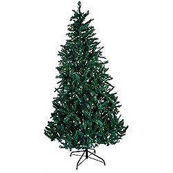 Kurt Adler Pre-Lit Point Pine Christmas Tree, 7-Feet, with 350 Clear Lights
