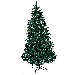 Kurt Adler Pre-Lit Point Pine Christmas Tree, 7-Feet, with...