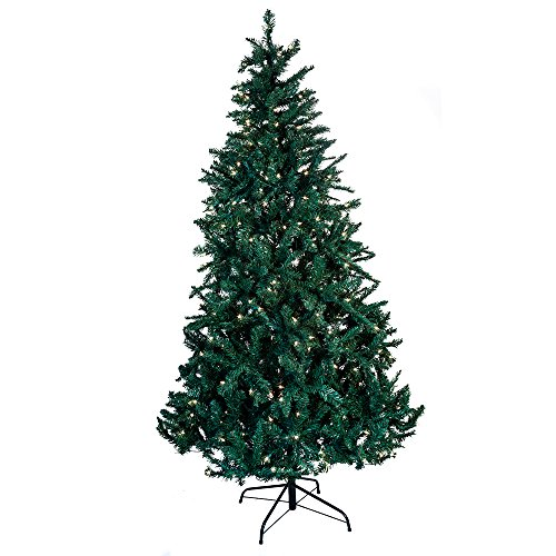 Kurt Adler Pre-Lit Point Pine Christmas Tree, 7-Feet, with 350 Clear (Pre Lit Wall)