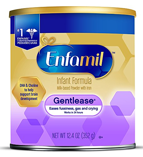 Enfamil Gentlease Gentle Infant Formula, Powder, 12.4 Ounce Can, Pack of 6 by Enfamil