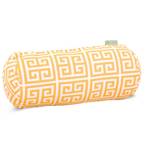(Majestic Home Goods Towers Round Bolster Pillow, Citrus)
