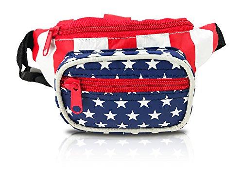 Child Fanny Pack, American Flag Design, Patriotic Waist Bag, For Girls Boys Kids Toddlers Infants (American Flag)