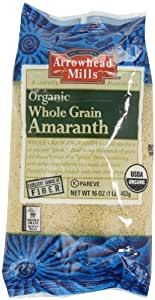 Arrowhead Mills Organic Whole Grain Amaranth, 1-Pound Unit (Pack of 6)